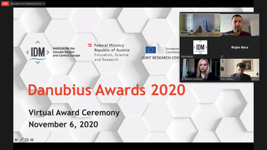 Assistant Professor Mitar Simić, PhD, Received the Danubius Award for Young Scientists of the Danube Region