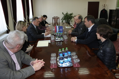 The Primorska University delegation visiting the University of Banja Luka