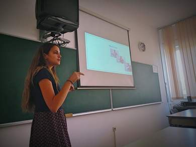 Presentations of a PhD study project of a guest researcher Carmen Callizo at the Faculty of Philosophy