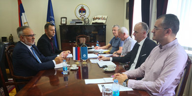 Rector meeting with Minister Malesevic