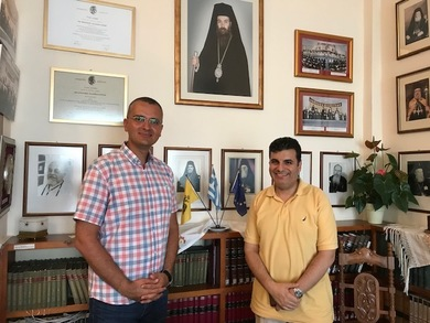 Talks about cooperation with the Orthodox Academy of Crete