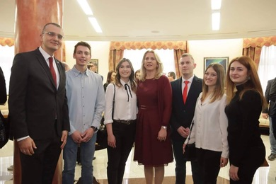 The Best Students of the University of Banja Luka at the Reception of the Republic of Srpska President