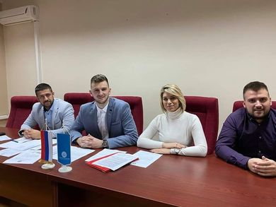Nikola Bulovic the New President of the Students' Parliament