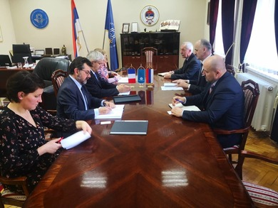 Rector Gajanin Talked with the Ambassador of France